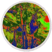 Parking Lot Palms 1 15 Round Beach Towel