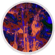 Parking Lot Palms 1 18 Round Beach Towel