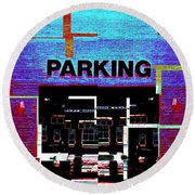 Parking Round Beach Towel