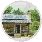 Parkway Cabin Round Beach Towel