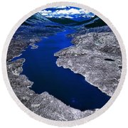 Parlament Blue Reservoir Round Beach Towel
