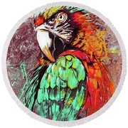 Parrot Art 09i Round Beach Towel