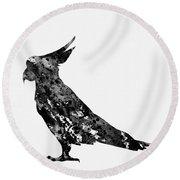 Parrot-black Round Beach Towel
