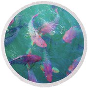 Parrotfish Of The Keys Round Beach Towel