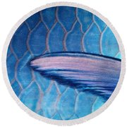 Parrotfish Scales Round Beach Towel