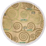 Part Of The Tree Of Life, Part 5 Round Beach Towel