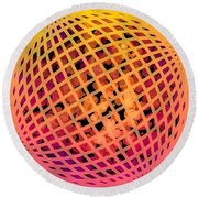 Particle Zoo Round Beach Towel