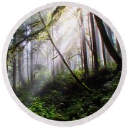 Parting Of The Mist Round Beach Towel