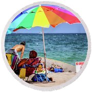 Partisan Round Beach Towel