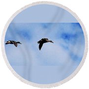 Partners Round Beach Towel