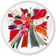 Party Bouquet IIi Pf Round Beach Towel