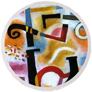 Party In The Kitchen Round Beach Towel