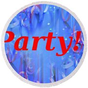 Party Round Beach Towel
