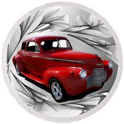 Party Time Red Round Beach Towel