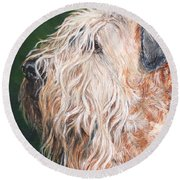 Pascal, Soft Coated Wheaten Terrier Round Beach Towel