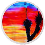 Paso Del Norte Sunset 1 Round Beach Towel