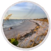 Pass A Grill Beach Florida Round Beach Towel