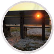 Pass-a-grille Glow Round Beach Towel