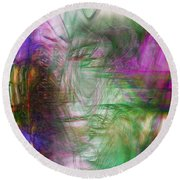 Passage Through Life Round Beach Towel