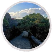 Passage To Beauty Round Beach Towel