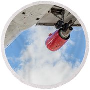Passenger Jet Coming In For Landing 9 Round Beach Towel