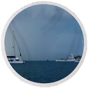 Passing Storm Round Beach Towel
