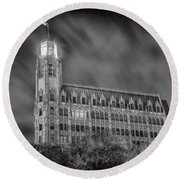 Passing Storm At The Emily Morgan Hotel Round Beach Towel