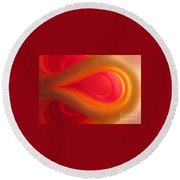 Passion Abstract 01 Round Beach Towel