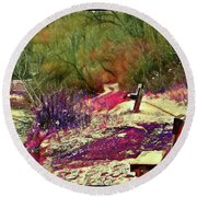 Passion Colors Everything  Round Beach Towel