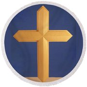Passion Cross Round Beach Towel