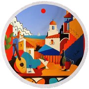 Passion For Life Spain Round Beach Towel