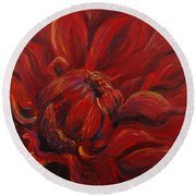 Passion II Round Beach Towel by Nadine Rippelmeyer