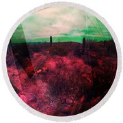 Passion In The Desert Round Beach Towel by MB Dallocchio