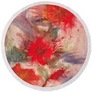 Passion In Three Round Beach Towel