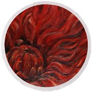 Passion Iv Round Beach Towel