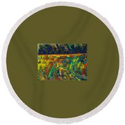 Passion Of A Man Round Beach Towel