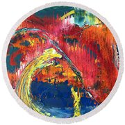 Passion Of The Summer Round Beach Towel
