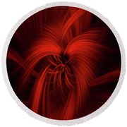 Passion Of Universe Round Beach Towel