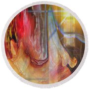 Passion Play Round Beach Towel