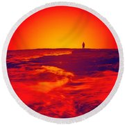 Passion's Envy Round Beach Towel