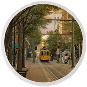 Past Meets Present Round Beach Towel