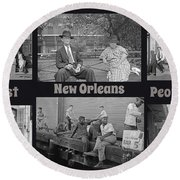 Past New Orleans People Round Beach Towel