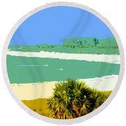Pastel Beach Round Beach Towel