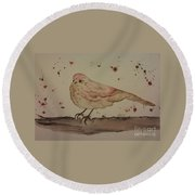 Pastel Bird Round Beach Towel