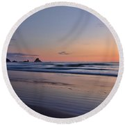 Pastel Coastline Round Beach Towel