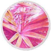 Pastel Dream In Pink Round Beach Towel
