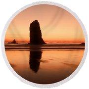 Pastel Evening On The Oregon Coast Round Beach Towel