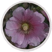 Pastel Flower Round Beach Towel