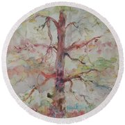 Pastel Forest Round Beach Towel