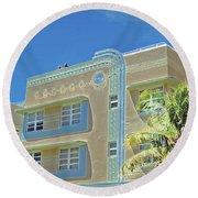 Pastel Hotel Round Beach Towel